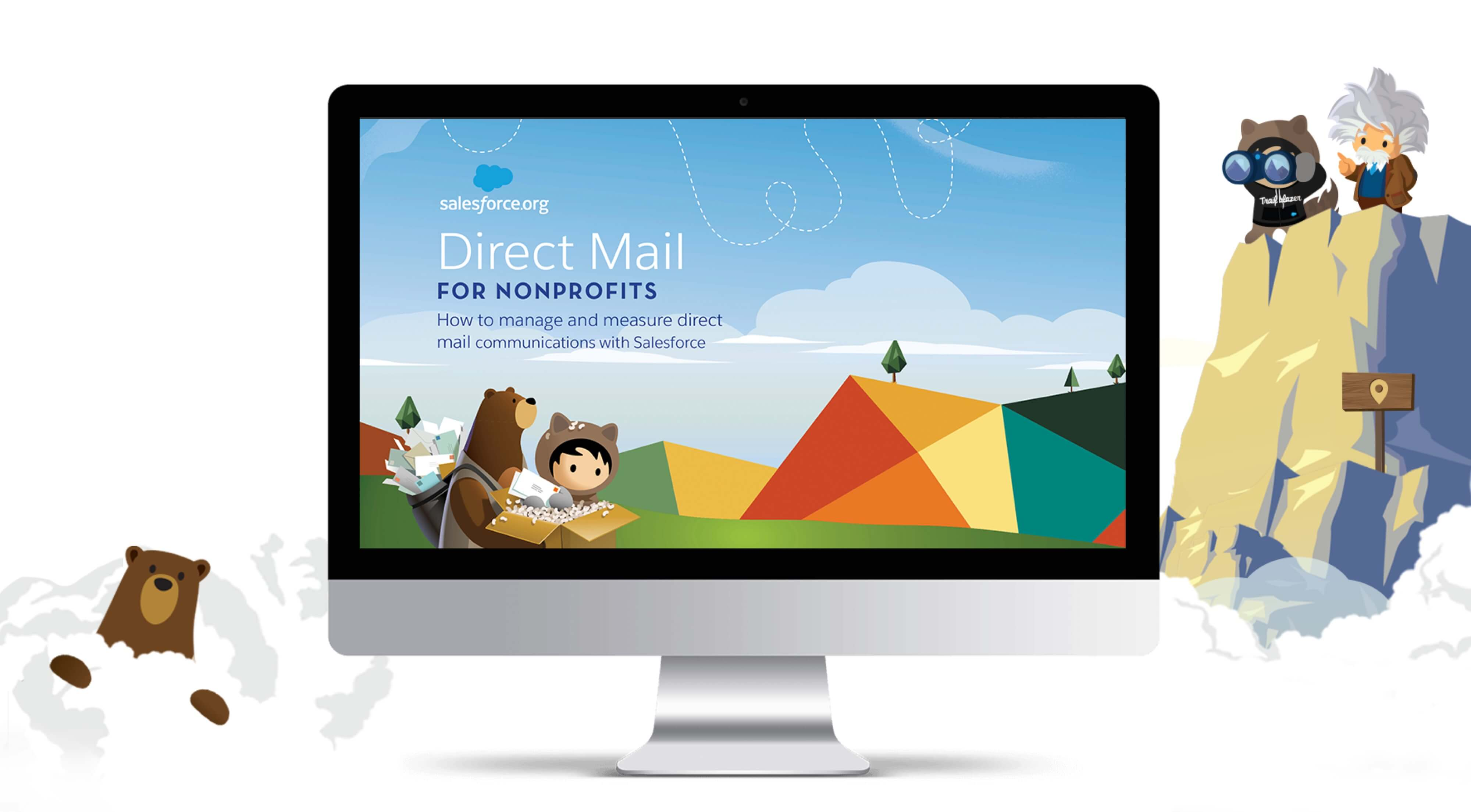 a mockup of the salesforce website on a mac