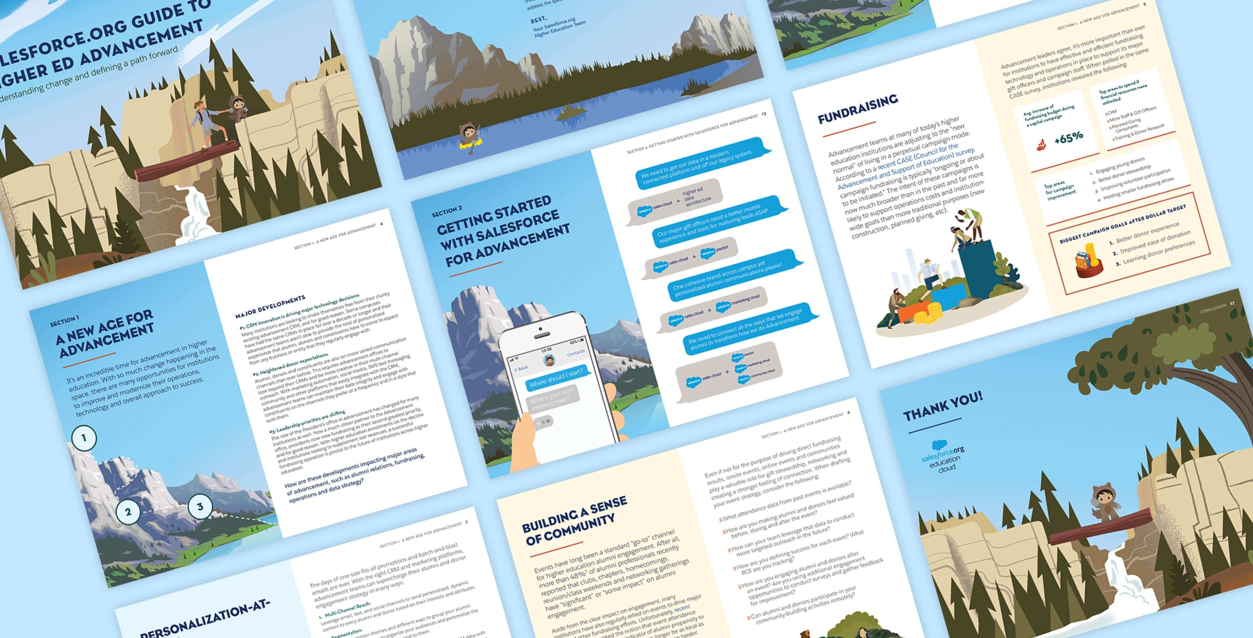 perspective mock up of marketing collateral designed for salesforce