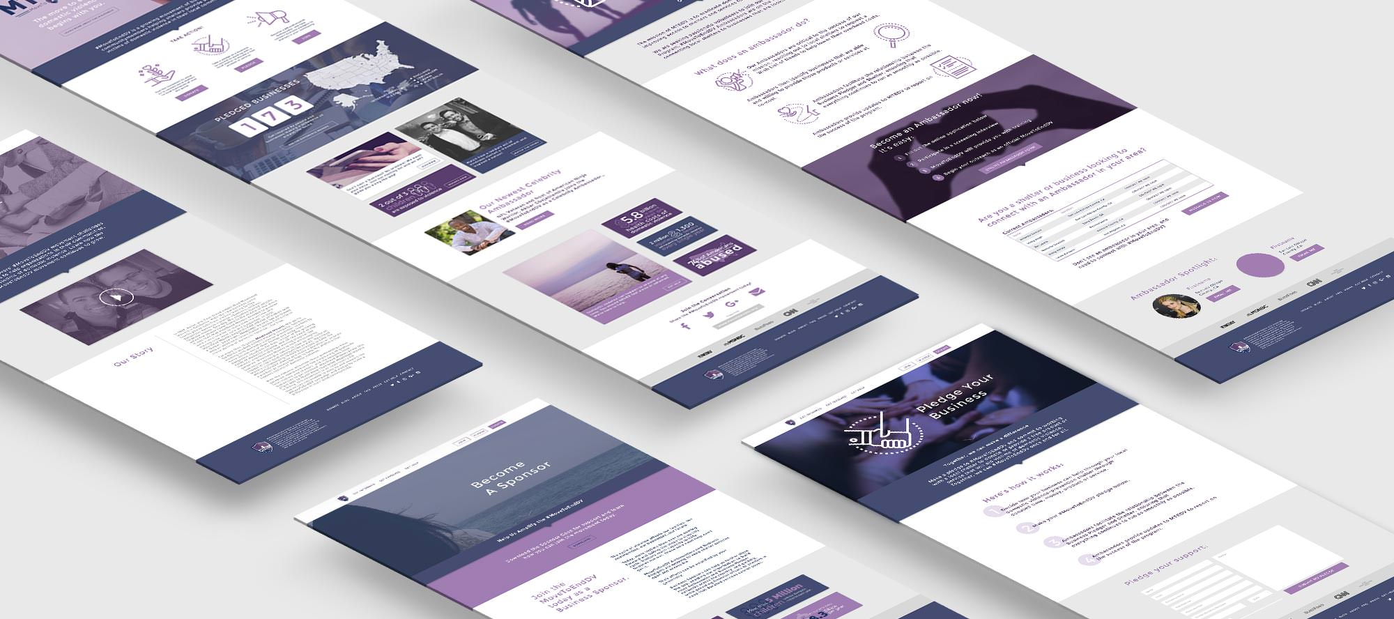 Move To End DV Website Pages Mockup